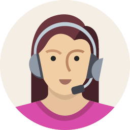 icon of a support person wearing a headset