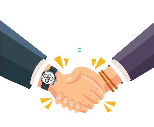 handshake between two people making a deal for managed IT security services